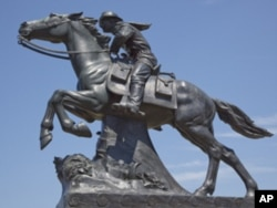 Herman McNeil's statue of a Pony Express rider and horse has stood in downtown St. Joseph for nearly 70 years. McNeil also carved frescoes in several state capitols, as well as statuary at the U.S. Supreme Court building in Washington, D.C.
