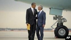芝加哥市長到機場迎接奧巴馬