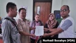 Jurnalis Koran Sindo Biro DIY Sempat Meminta Bantuan Pemerintah Jogja menyelesaikan persoalan dengan MNC Group (foto: VOA/Nurhadi Sucahyo)