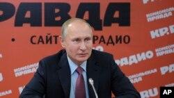 Le Président russe, Vladimir Poutine, le 11 Janvier 2018