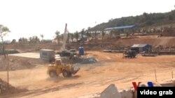 柬埔寨戈公省大型中國項目工地