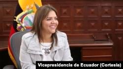 María Alejandra Vicuña es considerada una de las figuras más fuertes del gobierno de Rafael Correa [Foto: Vicepresidencia de Ecuador]