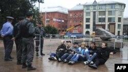 В Москве разогнали несанкционированную акцию протеста