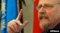 Heiner Bielefeldt, a U.N. special rapporteur on religious freedom, has found violations in Vietnam, he says in Hanoi July 31, 2014.