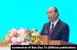 Thủ tướng Nguyễn Xuân Phúc tại hội nghị hôm 30/12/2019