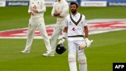 شان مسعود نے انگلینڈ کے خلاف اولڈ ٹریفورڈ ٹیسٹ میں 156 رنز کی اننگز کھیلی تھی۔