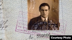 Hemingway's 1923 passport (detail), 1923, from The Ernest Hemingway Photograph Collection. (John F. Kennedy Presidential Library and Museum)