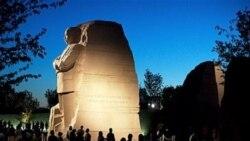 مراسم رونمایی از بنای یادبود مارتین لوترکینگ در واشنگتن