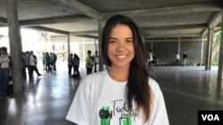 Gabriela Barrios, estudiante venezolana. Foto: Carolina Alcalde. Nov. 14 de 2019.