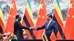 VaEmmerson Mnangagwa nemutungamiri weChina VaXi Jinping