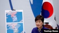 朴槿惠講解薩德反導系統的重要性