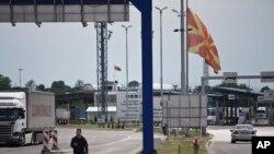 Granični prelaz Preševo izmedju Srbije i Makedonije.