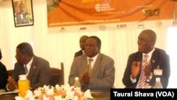 ZITF - Vice President Emmerson Mnangagwa addressing delegates.