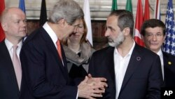 Kerry Meets Syrian Opposition