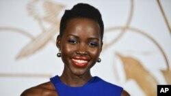 "Aktris penerima nominasi Oscar 2014 lewat film ""12 Years of Slave"", Lupita Nyong'o."