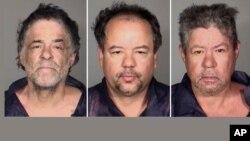 Đối tượng Ariel Castro (giữa) bị khởi tố, người em của Castro là Onil (trái) và người anh cả Pedro cũng bị bắt nhưng không bị khởi tố.