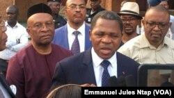 Paul Atanga Nji à Yaoundé, Cameroun, le 6 janvier 2020. (VOA/Emmanuel Jules Ntap)