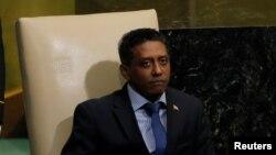 Le président des Seychelles Danny Faurelors de la 72e Assemblée générale des Nations unies, New York, 21 septembre 2017.