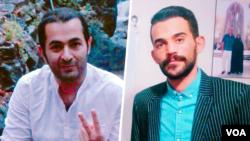 محمد حسینزاده (سمت چپ) و آرشام رضایی، دو فعال مدنی بازداشت شده- آرشیو