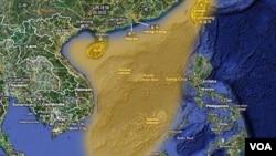 中国声称拥有南中国海主权 多个国家也声称拥有该海域全部和部分主权 / China claims the highlighted portion of the South China Sea. Many other governments also claim all or part of the South China Sea.