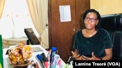 Chantal Forgho, Directrice des affaires juridiques et de la coopération internationale du Bureau burkinabè du droit d'auteur, Ouagadougou, le 28 septembre 2020. (VOA/Lamine Traoré)
