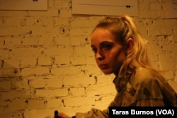 Анастасия Цебринская, 23 года, рядовой-стрелок из АТО. Киев, 4 декабря 2015.