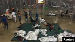德州里奧格朗德收容兒童的聯邦政府設施。(2018年6月17日)