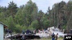 На месте катастрофы Ту-134 под Петрозаводском. 21 июня 2011 года