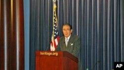 石原慎太郎在傳統基金會演說