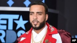 FILE - French Montana arrives at the BET Awards at the Microsoft Theater, June 25, 2017, in Los Angeles.
