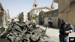 炸彈襲擊現場。