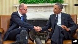 Барак Обама и Арсений Яценюк