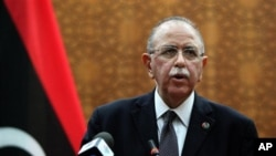 Libya's new U.S. educated electrical engineer Prime Minister Abdurrahim el-Keib speaks in Tripoli, Libya. (File)
