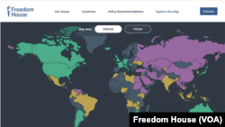 Freedom House map