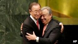 Ban Ki Moon Aramukanya na Antonio Guterres agiye kumusubirira