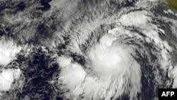 Gambar Badai Tropis Andres yang dirilis oleh NOAA-NASA (28/5).