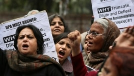Scores of protesters have gathered near India's parliament house to protest a new law which they say is inadequate to deter all forms of sexual violence against women in New Delhi, India, February 4, 2013.