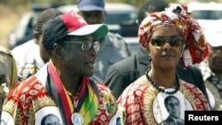 Tsohon shugaban Zibabwe Robert Mugabe da matarsa Grace Mugabe