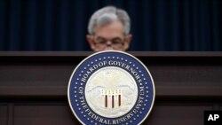 El presidente de la FED, Jerome Powell, apoyó este martes la reducción de los tipos de interés en 0.25 puntos porcentuales, hasta alcanzar el 1,25%. Foto de archivo del 21 de marzo de 2018.