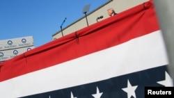 美国总统特朗普2020年8月20日在宾夕法尼亚州斯克兰顿市(Scranton)附近出席一个竞选活动(路透社)