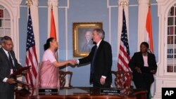 Under Secretary Burns and Indian Ambassador to the U.S. H.E. Meera Shankar Sign the U.S.-India Agreement for Nuclear Cooperation Conclusion of Reprocessing Arrangements and Procedures.