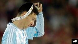 Leo Messi à l'issue de la finale de la Copa America 2016.