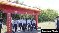 台湾前总统马英九2016年1月视察太平岛。