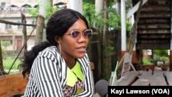Michelle Kangni à Lomé, 7 octobre 2020. (VOA/Kayi Lawson)