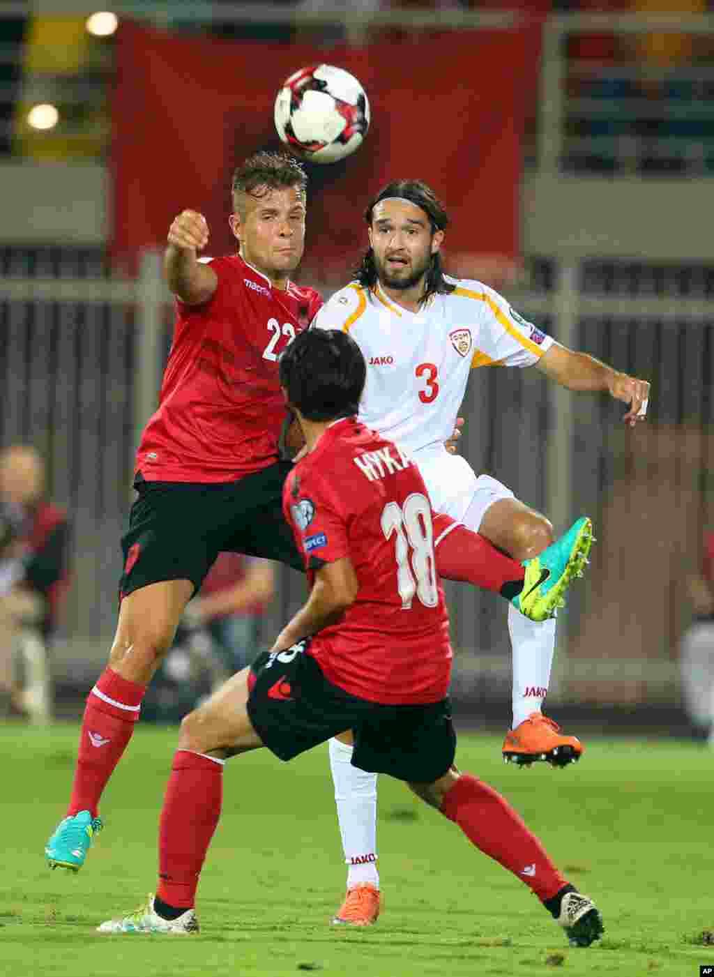 Soccer WCup 2018 Albania Macedonia