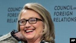Menlu AS, Hillary Clinton memberikan sambutan di forum hubungan luar negeri di Washington DC, 31 Januari 2013.(AP Photo/Manuel Balce Ceneta).