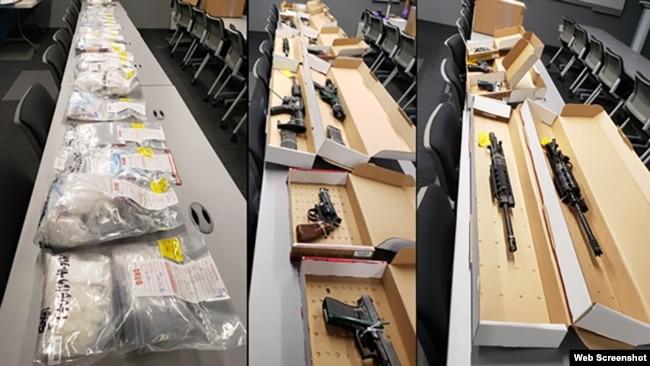 Tang vật do FBI thu giữ trong chiến dịch Phượng Hoàng Đen. Photo FBI via CBS Los Angeles.