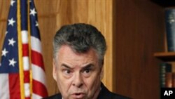 Representative Peter King during a news conference on Capitol Hill (file photo)