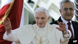Đức Giáo Hoàng Benedict XVI và Tổng thống Libăng Michel Suleiman tại Beirut