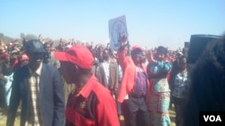 Prime Minister Morgan Tsvangirai captured at an election rally in Chegutu, Mashonaland West Province, Saturday